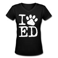 2014 new Promotions Hot Trendy Cozy Women Blouse Shirts T-shirt Fashion Slim Shirt Fashion Leisure I LOVE ED SHEERAN