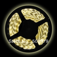 Free Shipping 5M Roll 5050 SMD Waterproof 60 LEDs/M 300 LEDs Warm Cool White Red Green Blue Yellow RGB Flexible LED Strip Light
