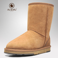 Twelve constellation aumu and in wool fur one snow boots fashion boots female 5825