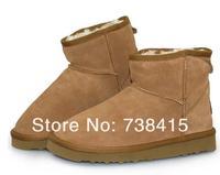 free shipping 2014 Winter snow boots 5854 women australia leatherwomen classic short wamer boots  Dust bag + tags+BOX