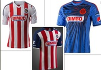 ^_^ Mexico's club  Guadalajara Chivas home 13/14  new season   thai 3A+ top quality   soccer jerseys free shipping shirts