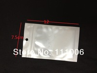 500pcs/lot DHL Free 7.5*12cm white Retail package poly bag ,Plastic bag/ pouch for headphone,cable,Best price