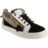 Authentic giuseppe green velvet and black calfhide high-top men's gz sneakers eur size 36- 44