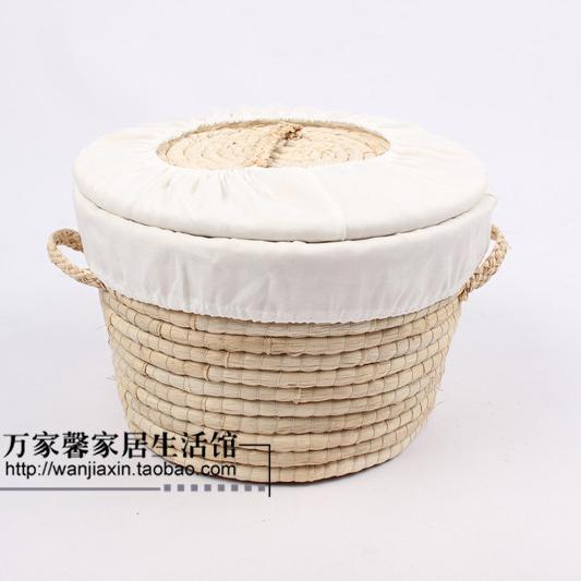 free shipping! straw corn husk bread basket, food storage Kitchen supplies mandoo cage cake basket craft(China (Mainland))