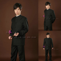 Male stand collar chinese tunic suit male costumes performance wear