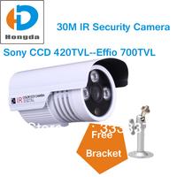 Security cctv IR Camera Outdoor 1/3 sony color CCD Effio-e 700TVL 3 Array ir led 30M 3.6mm waterproof video HD Cam with bracket