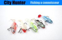 fishing lure soft bait set 5pcs/lot pack lead soft fish variety of colors free shipping