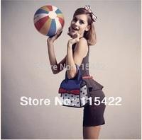 2014 new designed women 3d cartoon handbag 100% canvas gismo 2d 3d tote shoulder bag free shipping