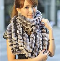 2013 Men Women large long real rex rabbit fur winter scarves, genuine russian fur stripe muffler scarf capelet shawl pashmina
