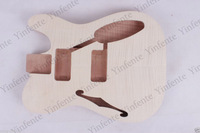 Guitar body Electric Unfinished Mahogany Fine Flame Maple Veneer