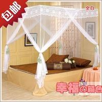 Fashion royal mosquito net folding mount mosquito net quadripartite princess zipper mosquito net