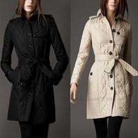 2013 Winter Women Medium-Long Wadded Jacket Cotton-Padded Jacket Thickening Women'S Overcoats Coat