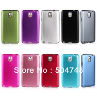 Free Shipping Hybrid Aluminum Metallic Metal And Gel Soft Silicone Protective  Cell Phone Cover For Samsung Galaxy Note III 3