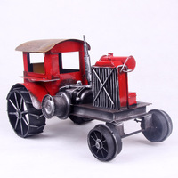 American vintage tent car tractor iron crafts car model toy