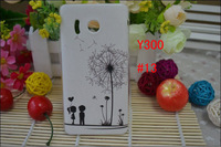 Water-Proof Fine Delicate Package+Screen Protector! 15 Species Pattern Transparent Sides Hard Case Cover For Huawei Ascend Y300