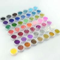 New 2013 Supernova Sale 3d Nail Art Decorations 50 Colors Tiny Glitter Powder Nails Decoration Nail Supplies G015