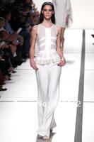 2014 New Arrival Elie Saab Dress Ivory White Fashion Design Floor Length white elie saab Evening Dresses Gowns