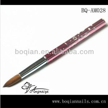 3D Acrylic Nail Brush Kolinsky Sable Hair Acrylic Nail Brush Nail Art Acrylic Brush/ #6(China (Mainland))