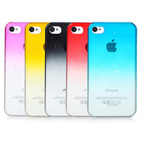 Special offer Free Shipping Transparent 3D Waterdrop Phone Cover Phone Cases for iPhone 4 4S
