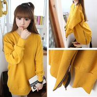 Sweatshirt female autumn and winter thickening school wear 2013 plus size honey