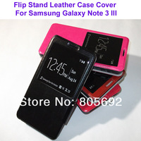Wholesale(500PCS) High Quality Galaxy Note 3 Flip Case,Stand PU Leather Case Pouch For Samsung Galaxy Note3 III Cover