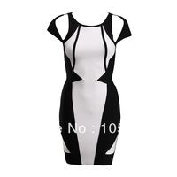 2014 New Style J342 bandage dress Celeb Style Ladies cap Sleeve cocktail dress