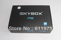 2013 Newest Original Skybox F5S Dual-Core CPU HD1080p Pvr Satellite Receiver VFD display support usb wifi external GPRS