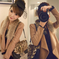 Autumn and winter fashion elegant Women all-match wool woolen outerwear short design
