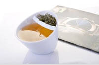 FedEx Free Shipping 50pcs White Teacup - A Twist on Tea Brewing,Tilted Smart Tea Cup Creative Tea Mug Dropshipping