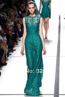 2014 New Arrival Elie Saab Dress Beautiful Lace Elegant Floor Length elie saab Evening Dress Prom Gown