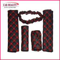 Free shipping name brand wholesale 1 sets gear Shift Collars with handbrake grips/ rearview mirror grip /seat belts grips