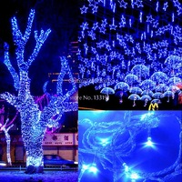 Wholesale 3PCS/LOT 50M 300 LED Blue Lights Decorative Wedding Fairy Christmas Tree Party Twinkle String Lighting 220V EU TK0585