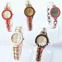 2013 brand new 5pcs fashion Lady Girls women Quartz Dress Watch round face bracelet wristwatches Xmas wedding Gift c35