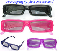 Passive style linear polarized 3d glasses+ Free shipping