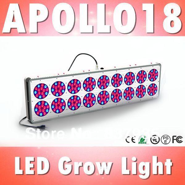 Free shipping Apollo 18 led grow light full spectrum farm equipment hydroponic supplies 3w chip grow lights greenhouse(China (Mainland))