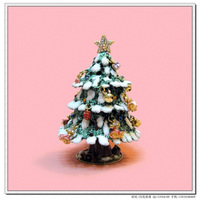 A christmas tree diamond crafts jewelry box metal jewelry box christmas tree