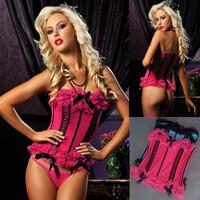 Female sexy lace bow charming vest plus size body shaping drawing abdomen underwear steel bone corset