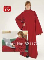 hot sale  adult blanket with sleeves,snuggie Fleece Blanket ,fleece sleeves blanket  OPP bag