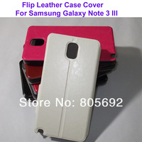 300PCS Flip Cell Phone Case Note3 N9000,Luxury PU Leather Case For Samsung Galaxy Note 3 III Flip Cover