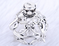 Wholesales Hot sales!!! 1pc cage pendant without harmony balls 925 sterling silver cages  22MM Hollow H5-22
