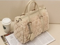 free shipping 2013 winter women's handbag gentlewomen's handbag sweet heart one shoulder handbag