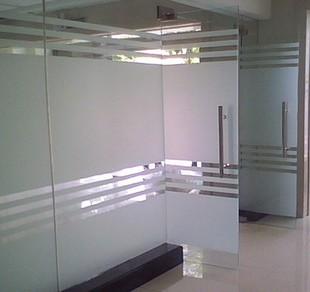 Pure Scrub Film Glass Office Partitions White Bathroom