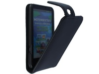 Fashion Flip Cover Black Case for Motorola XT615 Cases Motoluxe Moto Pouch Bag