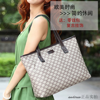 Free shipping Andy women's bag one shoulder bag fashion vintage bags portable 2013 letter print bag