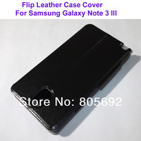 Wholesale(500PCS) Good Quality Protector Skin PU Cover Pouch For Samsung Galaxy Note III Note 3 Flip Cover N9000 Case