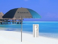 2M advertising beach umbrella