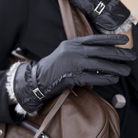 Winter gloves women's rabbit fur gloves female winter thermal gloves w-73