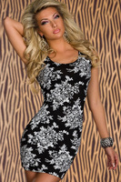 2013 New Retro Gorgeous Printing Sleeveless Slim Show Thin Dress