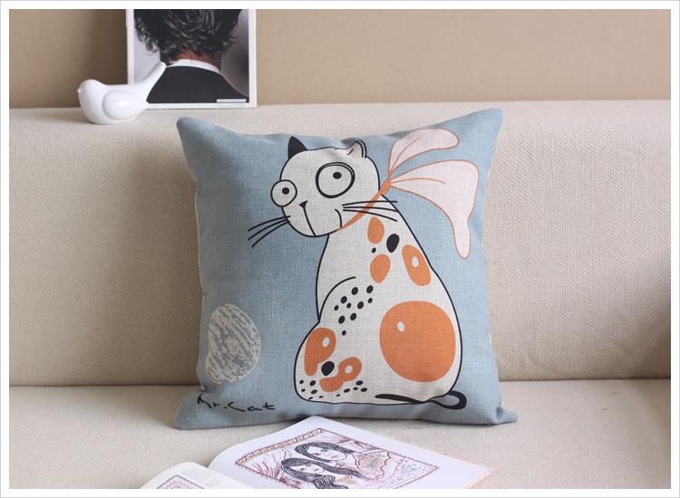 Frete grátis linho de alta qualidade zíper invisível elefante almofada do sofá impresso capa capa / travesseiro 45 * 45 centímetros(China (Mainland))