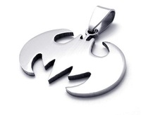 Fashion Batman 316L Titanium Stainless Steel Pendant Necklace Men's Popular Jewellery 10pcs/lot